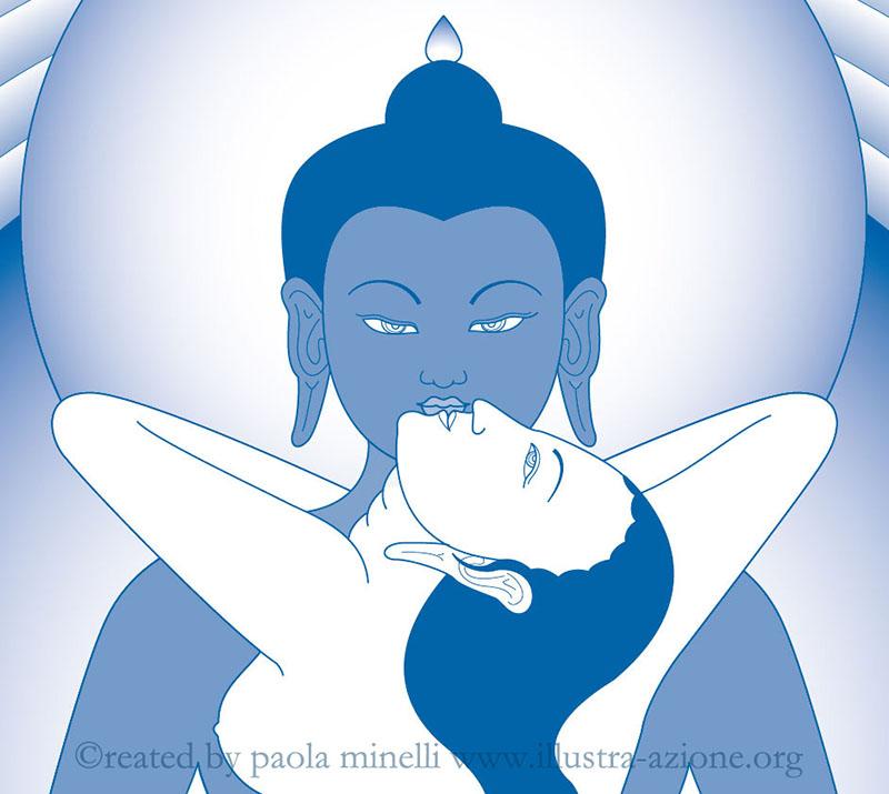 Samantabhadra-Samantabhadri yab yum (vector)
