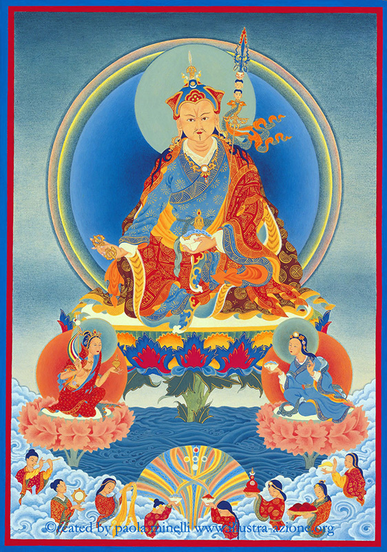 Padmasambhava  (acrylic on canvas)