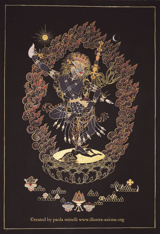Dakini Simamuka (mineral color on canvas)