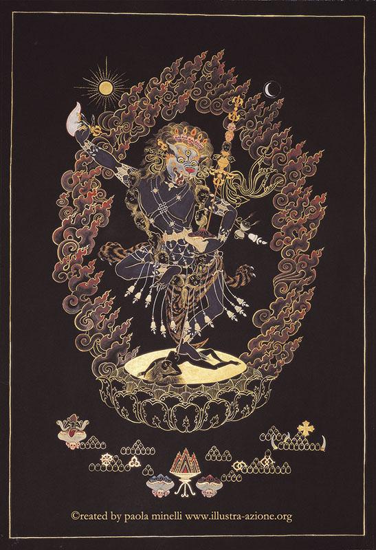 Dakini Simhamukha (mineral color on canvas)